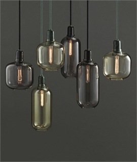 Amp - Glass Pendant Light with 4m Flex