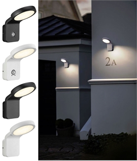 Designer Angled LED Exterior Wall Light - Standard or Sensor Operated