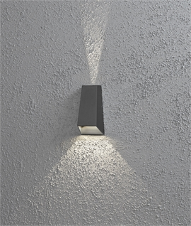 Anthracite Angled LED Wall Washer Light