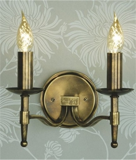 Antique Brass Wall Light - Single or Double
