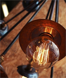 Large Industrial Bare Bulb Explosion Chandelier D:1100mm