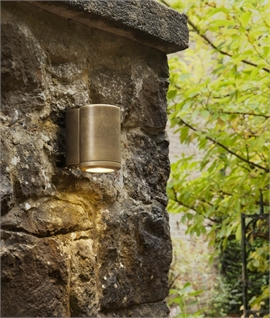 Brass Single Lamp Coastal Wall Light
