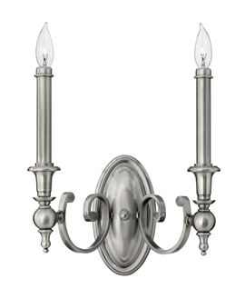 Antique Nickel Wall Light - Single or Double