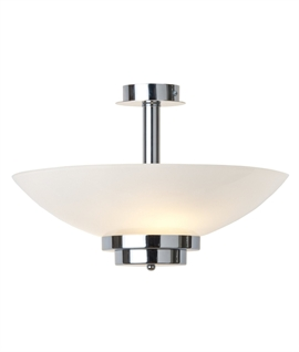 Art Deco Style Opal Glass Ceiling Uplight