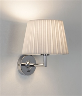 Contemporary Bedside Light in Chrome - Switched