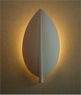 Plaster Wall Light - Feuille Design
