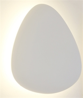 Atoll Grande Oval Plaster Wall Light