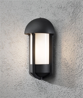 Modern Pill Shaped Flush External Wall Light