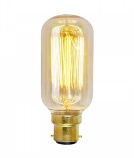 B22d 40w Filament Amber Tinted Tube Lamp