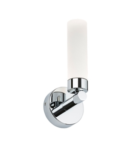 Single or Double Chrome & Opal Budget Bathroom Wall Light