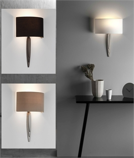 Modern Long Bracket Wall Light with Back-To-Wall Shade