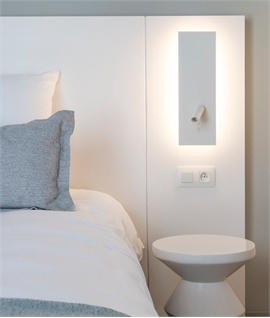 LED Backlit Bedside Wall Light with Reading Light