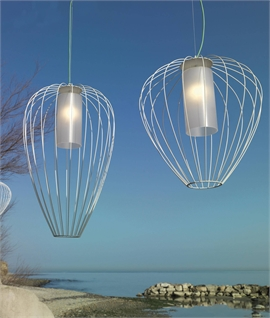 Exterior Balloon Cage Pendant with Diffuser