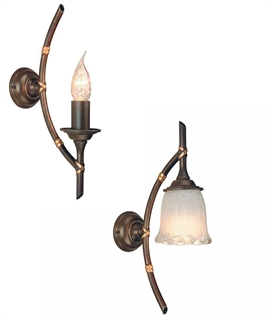 Bamboo Bracket Wall light in Bronze Finish