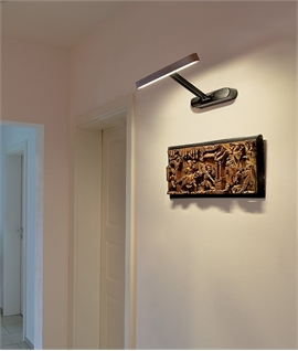 Bamboo and Steel Linear Display Light