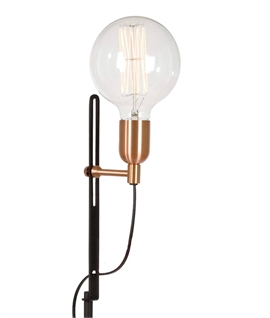 Bare Lamp Slim Black Floor Lamp