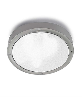 Basic Round Outdoor Silver Bulkhead