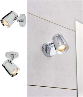 Sleek Design Single Adjustable Spot for Bathrooms IP44