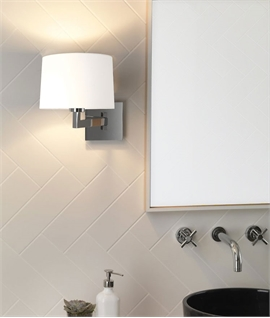 Swing Arm Wall Light - safe for bathrooms, ideal for mirrors