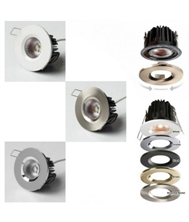 Elite HD 7w LED Fixed Fire Rated IP65 Downlight