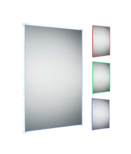 Edge Lit LED Colour Changing Mirror & Remote 700mm x 500mm