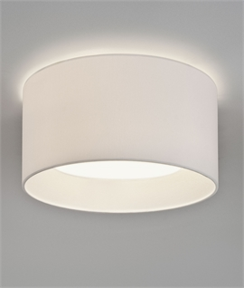 Flush mounted drum pendants lighting styles flush drum fabric shade 2 sizes 2 colours aloadofball Choice Image
