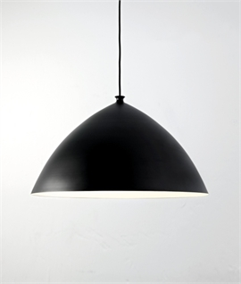 Big Modern Light Pendant in Matt Black 50cm