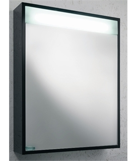 Boxed Black Gloss Illuminated Cabinet