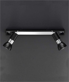 Black And Chrome Double Spot Bar