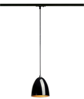 Track designed for suspending pendant lights lighting styles metal cone track pendant metal cone track pendant aloadofball Choice Image