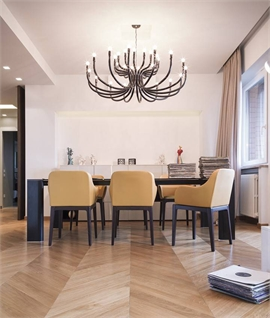 Modern 16 Arm Double Layer Chandelier