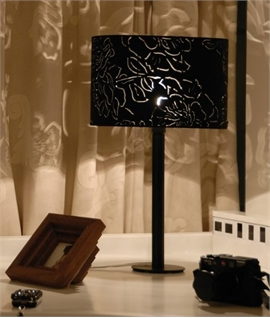 Peony Table Lamp with Black Base