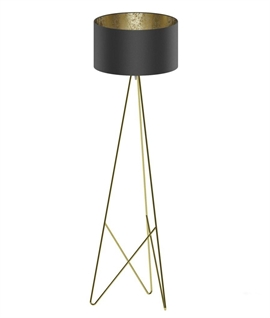 Modern Geometric Tripod Floor Lamp with Shade