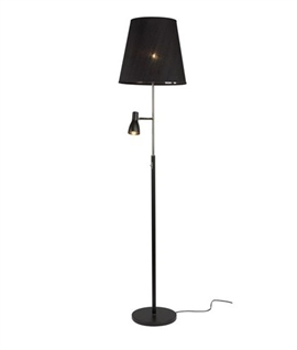 shaded floor lamp with dimmable led reading light