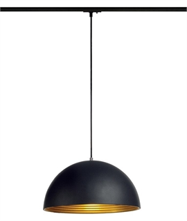 Large Dome Pendant for Mains Track D:400mm