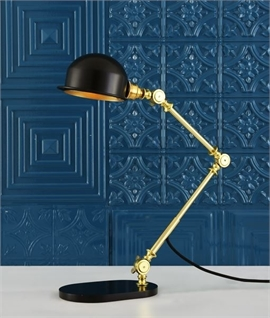 Industrial Styled Anglepoise Table Lamp - Two Finishes