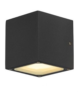 Small Cube Exterior Up and Down Wall Light