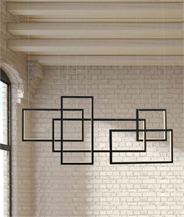 Interlocking Shapes LED Pendant L:1200mm