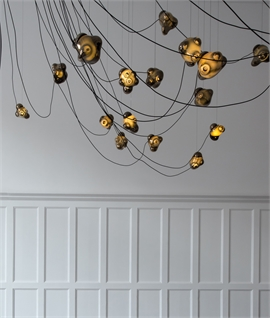 Bocci Blown Mirror Glass Cluster Chandelier
