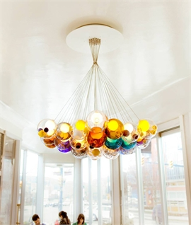 Bocci Colourful Glass LED Cluster Pendant