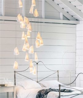 Bocci White Porcelain LED Long Drop Chandelier