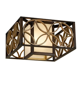 Box Flush Ceiling Light - Arts & Craft Design