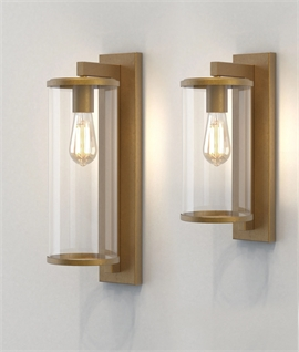 Contemporary Bracket Wall Light With Cylindrical Glass