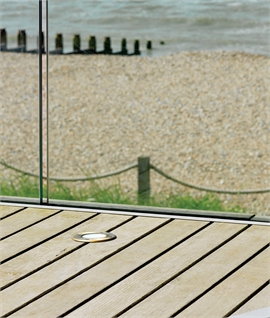 Solid Brass Low-Glare-Ground Uplight - designed for the coast