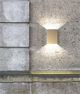 Rectangular LED Outdoor Wall Light with Filters - 5 Finishes