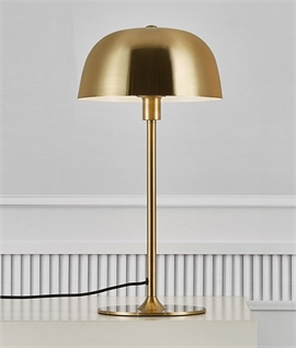 Brass Table Lamp with Dome Shade