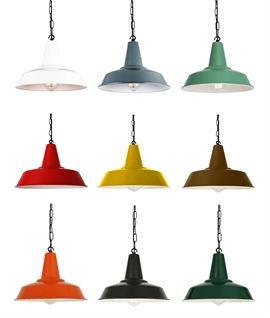 Industrial Style Collie Metal Pendant Light Pendants - Chain Suspension