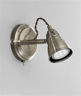 Bronze Finish LED Wall Light