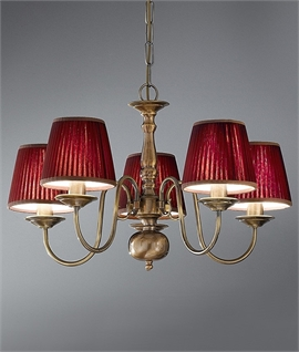 Bronzed Brass Flemish Chandelier - Two Sizes