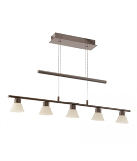 Brown Rise and Fall Kitchen Light